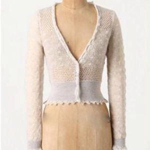 Anthro Knitted & Knitted Wispy Pointelle Cardigan